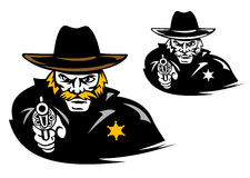 Sheriff with gun Royalty Free Stock Photography
