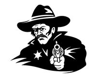 Sheriff with gun Stock Image