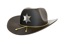 Sheriff hat. Sheriff\'s hat on a white background Royalty Free Stock Images