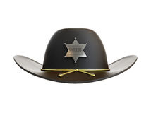 Sheriff hat. Sheriff's hat on a white background Royalty Free Stock Image
