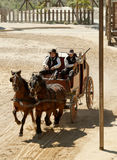 Sheriff and his Deputy on a stagecoach Royalty Free Stock Photos