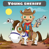 Sheriff on horse, character from wild West series vector illustration