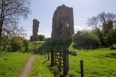 Sheriff Hutton Castle. Landscape shot Sheriff Hutton Castle, in the village of Sheriff Hutton, North Yorkshire York Royalty Free Stock Photography