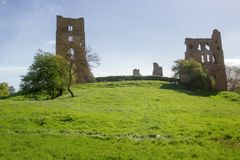 Sheriff Hutton Castle. Landscape shot Sheriff Hutton Castle, in the village of Sheriff Hutton, North Yorkshire York Stock Image