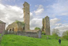 Sheriff Hutton Castle, north yorkshire, england Royalty Free Stock Images