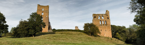 Sheriff Hutton Castle. Yorkshire Sherrif Hutton Castle is situated at the village of Sheriff Hutton around six miles (10km) from York stock photography