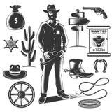 Sheriff Icon Set Royalty Free Stock Image