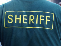 Sheriff Jacket. Back of Sheriff Jacket royalty free stock photography