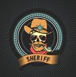 Sheriff muerto del emblema stock de ilustración