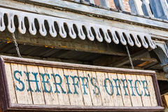 Sheriff Office. Old Sheriff Office cartel, made of wood, useful for concepts Stock Photography
