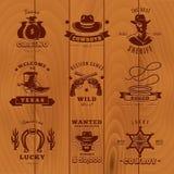 Sheriff oscuro Label Set del vintage libre illustration