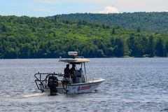 Sheriff Boston Whaler patrol boat Royalty Free Stock Images