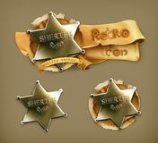 Sheriff, retro icon Royalty Free Stock Images