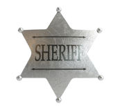 Sheriff's badge. On a white background Stock Photography