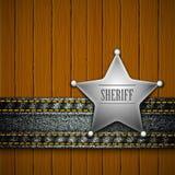 Sheriff's badge Royalty Free Stock Images