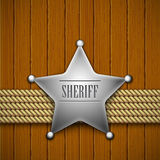 Sheriff's badge Royalty Free Stock Image