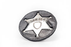 Sheriff's badge isolated on white Royalty Free Stock Photography
