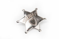 Sheriff's badge isolated on white Stock Image
