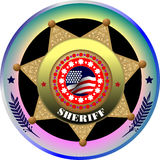 Sheriff's badge Stock Photography