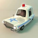 Sheriff's car. Is designed to transport criminals Royalty Free Stock Images