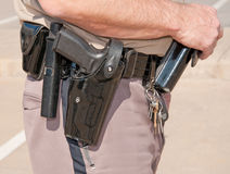 Sheriff's deputy's duty belt Stock Photo