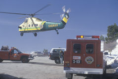 Sheriff's helicopter Stock Photos