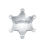 Sheriff's metallic badge as star Royalty Free Stock Images