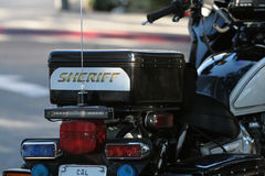 Sheriff's Motorcycle Stock Image