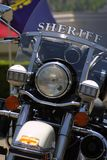 Sheriff's Motorcycle. Parked stock image