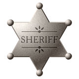 Sheriff's shield Stock Image