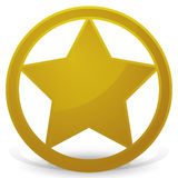 Sheriff's Star - Badge Stock Photos