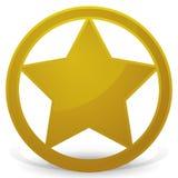 Sheriff's Star - Badge Stock Photos