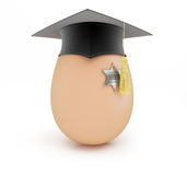 Sheriff school egg sheriff graduation capon a white background Stock Image