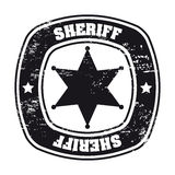 Sheriff seal Stock Photography
