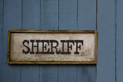 Sheriff sign Stock Images