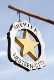 Sheriff signboard Royalty Free Stock Image