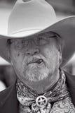 Sheriff som utför i lös västra show i gravstenen Arizona Arkivfoton