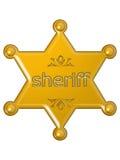 Sheriff star stock photo