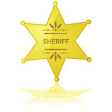 Sheriff star Royalty Free Stock Images