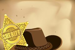 Sheriff star Royalty Free Stock Image