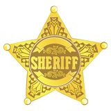 Sheriff star Royalty Free Stock Photography