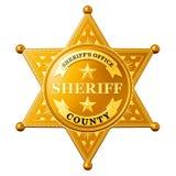 Sheriff Star Badge, representación 3D libre illustration