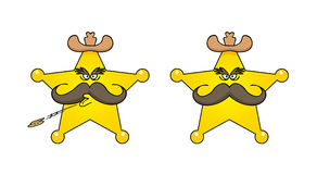 Sheriff star cartoon Royalty Free Stock Images