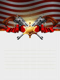 Sheriff star with guns royalty free stock photo