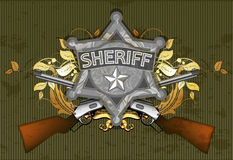 Sheriff star with guns Royalty Free Stock Photography