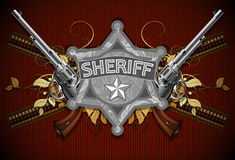 Sheriff star with guns Stock Photo