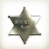 Sheriff star icon Stock Photography