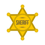 Sheriff star icon Stock Image