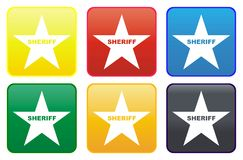 Sheriff star web button Royalty Free Stock Photo
