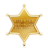Sheriff star Royalty Free Stock Photo
